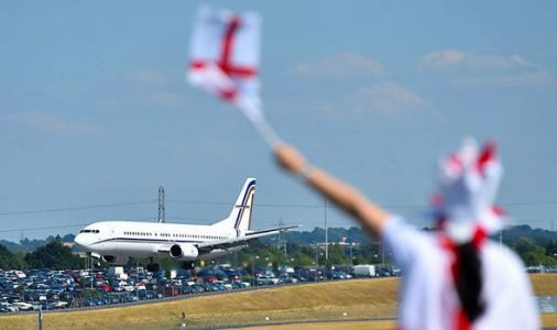 England fans shocked as Birmingham Airport warn them to stay away from World Cup return