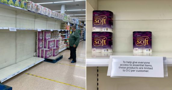 Are panic buyers back? Toilet roll and pasta disappear from shelves once again