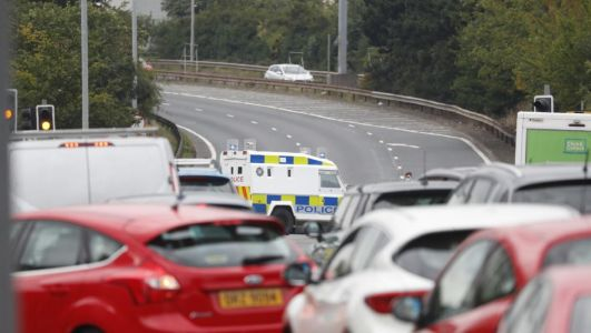 Westlink reopens after car went on fire near Royal Victoria Hospital
