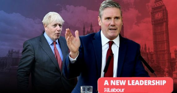 Boris beaten by Keir as Labour overtakes the Tories in new opinion poll