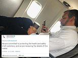 Ted Cruz is pictured on a plane NOT wearing a mask