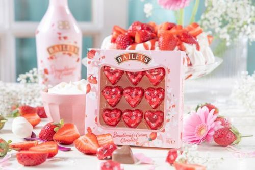 You can now buy chocolate hearts filled with Baileys strawberry and cream for Valentine's Day