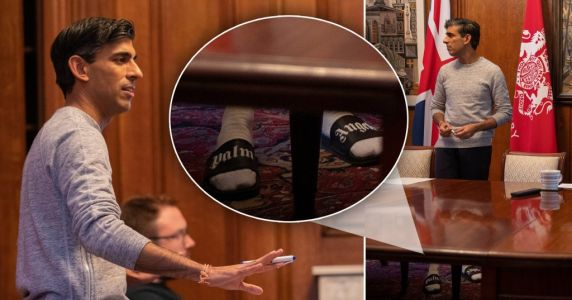 Rishi Sunak wears £95 sliders and socks to get ready for Budget