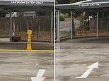 Southern Highlands car wash with VERY confusing signs and arrows baffles drivers