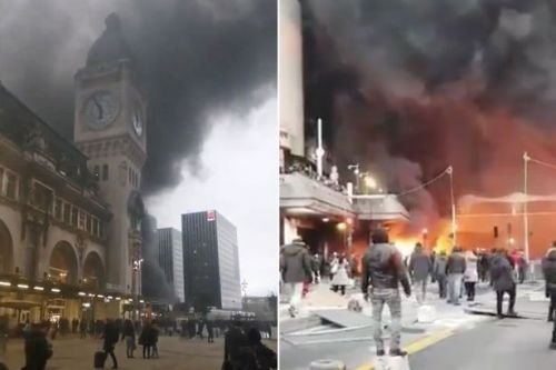 Gare de Lyon: Huge fire breaks out at Paris train station as police evacuate building