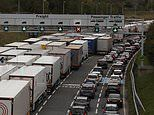 Holidaymakers queue for Channel Tunnel for more than SEVEN HOURS due to power supply issue