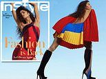 Zendaya bares her back in all-Black fashion spread and chats Euphoria