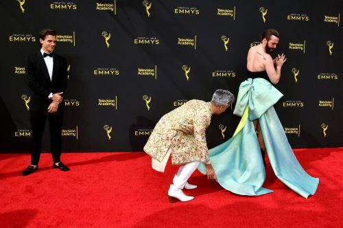 Queer Eye's Jonathan Van Ness rocked the stereotypical standards of male Emmys fashion with a beautiful black dress