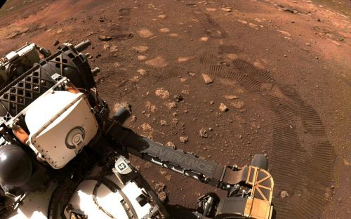 Mars rover Perseverance goes for its first test drive
