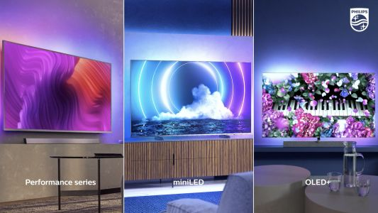 Philips unveils new OLED and MiniLED TVs - all with four-sided Ambilight