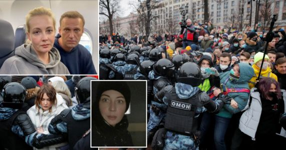Wife of poisoned Putin critic Alexei Navalny among hundreds arrested at protests