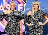 TMS' Jackie 'O' Henderson commits a fashion faux pas gets caught in same dress as Heidi Klum