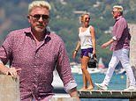 Boris Becker heads out to a beach club with a blonde companion in St Tropez