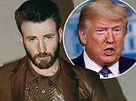 Chris Evans says he will take a break from calling Donald Trump things like 'dumbsh*t'