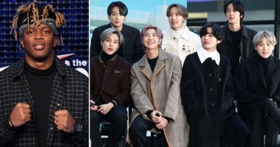 KSI feels the wrath of BTS army as he jokes they're not 'real fans' after his album beats Suga to number one