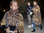 Uma Thurman, 49, seen in Paris with her son Levon Hawke,17