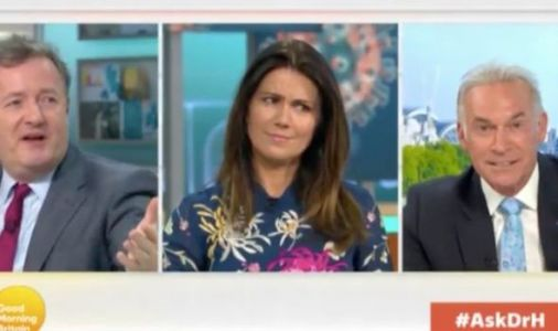'It's 7.45am!' GMB's Susanna Reid forced to halt Piers Morgan and Dr Hilary's saucy chat