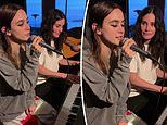 Courteney Cox accompanies her daughter Coco, 16, for a performance of Taylor Swift's Cardigan