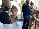Shailene Woodley and Aaron Rodgers are low-key in sweats as they shop at organic supermarket in LA