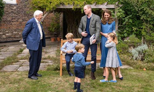 Prince George, Princess Charlotte and Prince Louis starstruck during special meeting with David Attenborough