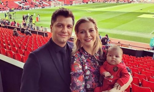 Rachel Riley brings baby Maven and husband Pasha Kovalev to work on first day back - see photo