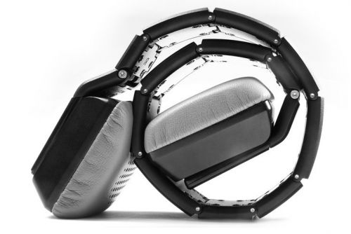 These luxury headphones roll up so you can carry them around