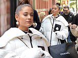 Ariana Grande enjoys a shopping trip with friends in New York City