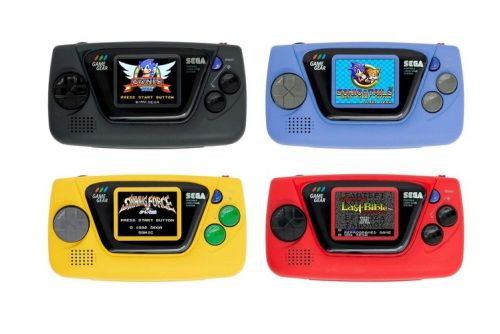 Sega announces the Game Gear Micro, four tiny retro consoles each with different games