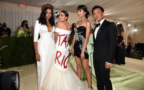 Alexandria Ocasio-Cortez whips up storm with 'Tax the Rich' dress at New York's elite Met Gala