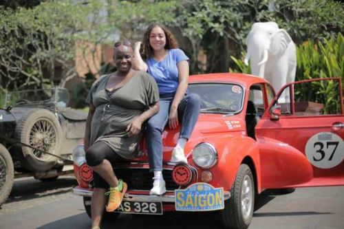 When is BBC2's Eight Go Rallying: the Road to Saigon on TV?