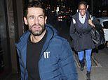 Strictly's Kelvin Fletcher wears shorts despite the freezing weather as he arrives at It Takes Two