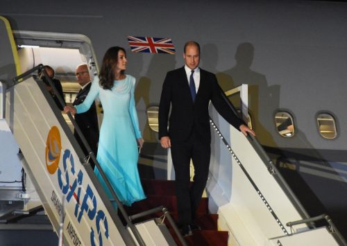 Prince William and Kate in mid-air drama as flight forced to divert