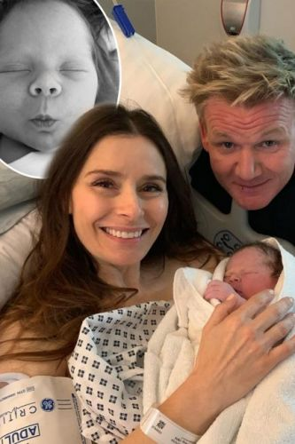 Gordon and Tana Ramsay's newborn son Oscar shows off perfect pout two weeks after being born