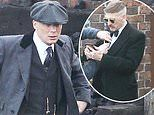 Cillian Murphy joins dapper co-star Paul Anderson to film Peaky Blinders' fifth series