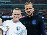 Wayne Rooney receives a plaque and huge ovation at Wembley