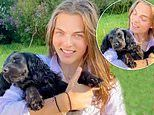 Elizabeth Hurley's lookalike son Damian shares video of himself with the family's adorable pet pooch