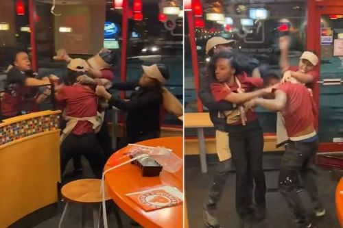 Seven Popeyes staff sacked after vicious brawl inside fast food restaurant