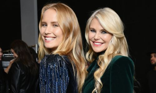 Christie Brinkley and daughter Sailor twin as blonde bombshells for big celebration