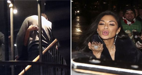 Nicole Sherzinger cuddles Thom Evans close as he's spotted with overnight bag after romance rumours