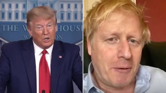 Donald Trump said he asked 'genius' drug companies to help Boris Johnson fight coronavirus