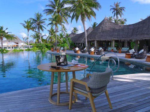 A Maldives resort is offering a fancy 'Workation Package' for over £18,000
