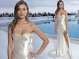 Josephine Skriver dazzles in an ivory gown as she attends fashion show in Monaco