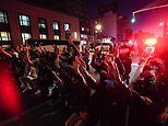 Cops clash with protesters and cars are set on fire on sixth night of George Floyd protests