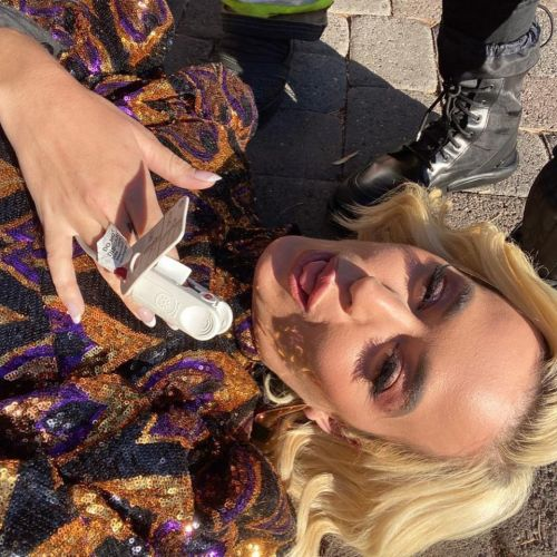 Katy Perry filmed the moment she was treated by firefighters during the American Idol gas leak