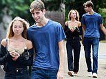 Kate Moss' daughter Lila, 18, puts on a cosy display with a mystery man during romantic lunch date