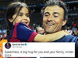 Tributes pour in from Messi, Suarez and more after Luis Enrique announcement of daughter's death
