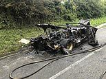 James Stunt's Lamborghini supercar with '1 57UNT' numberplate is destroyed