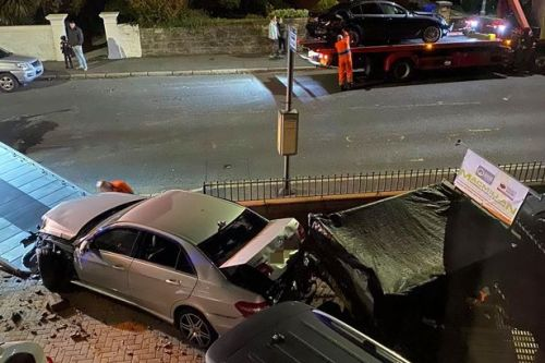 Carnage on Ayrshire street after multiple cars damaged in serious crash