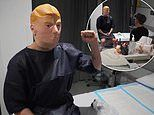 Mirror Mirror patient hides his identity beneath a Donald Trump mask during butt lift surgery