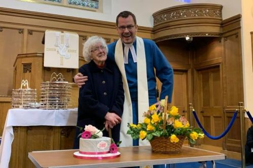Communion for all ages: 107-year-old woman celebrates her very special birthday at church